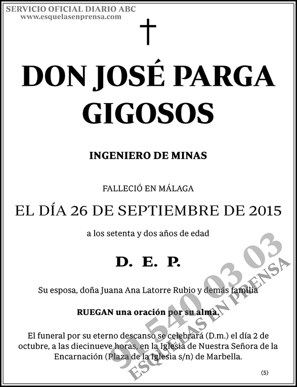 José Parga Gigosos